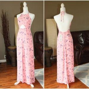 NWT Wildfox Paisley Floral Print Neon Halter Dress